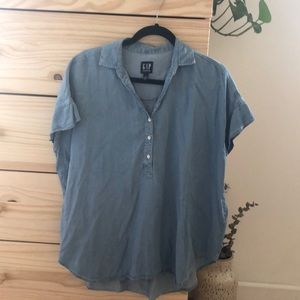 Gap jean blouse
